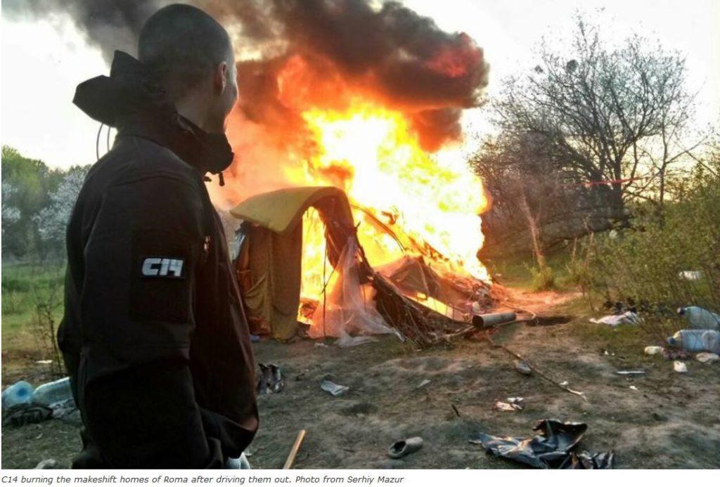 2018-04-30 22_39_47-2018-04-24 13_10_58-Ukrainian neo-Nazi C14 vigilantes drive out Roma families, b